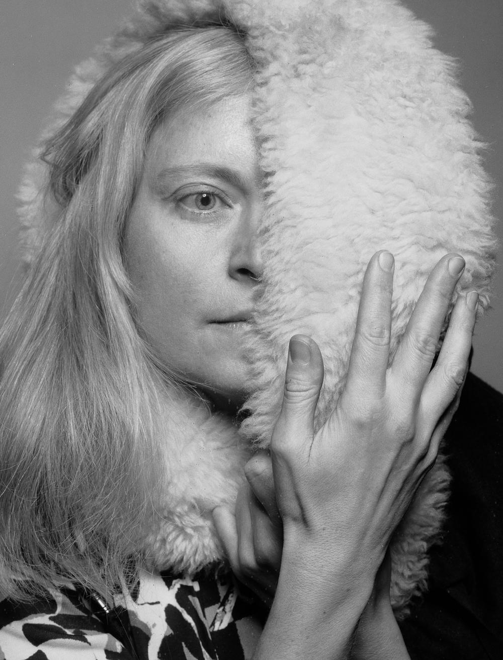 irene caesar - self portrait with a fur collar fragment